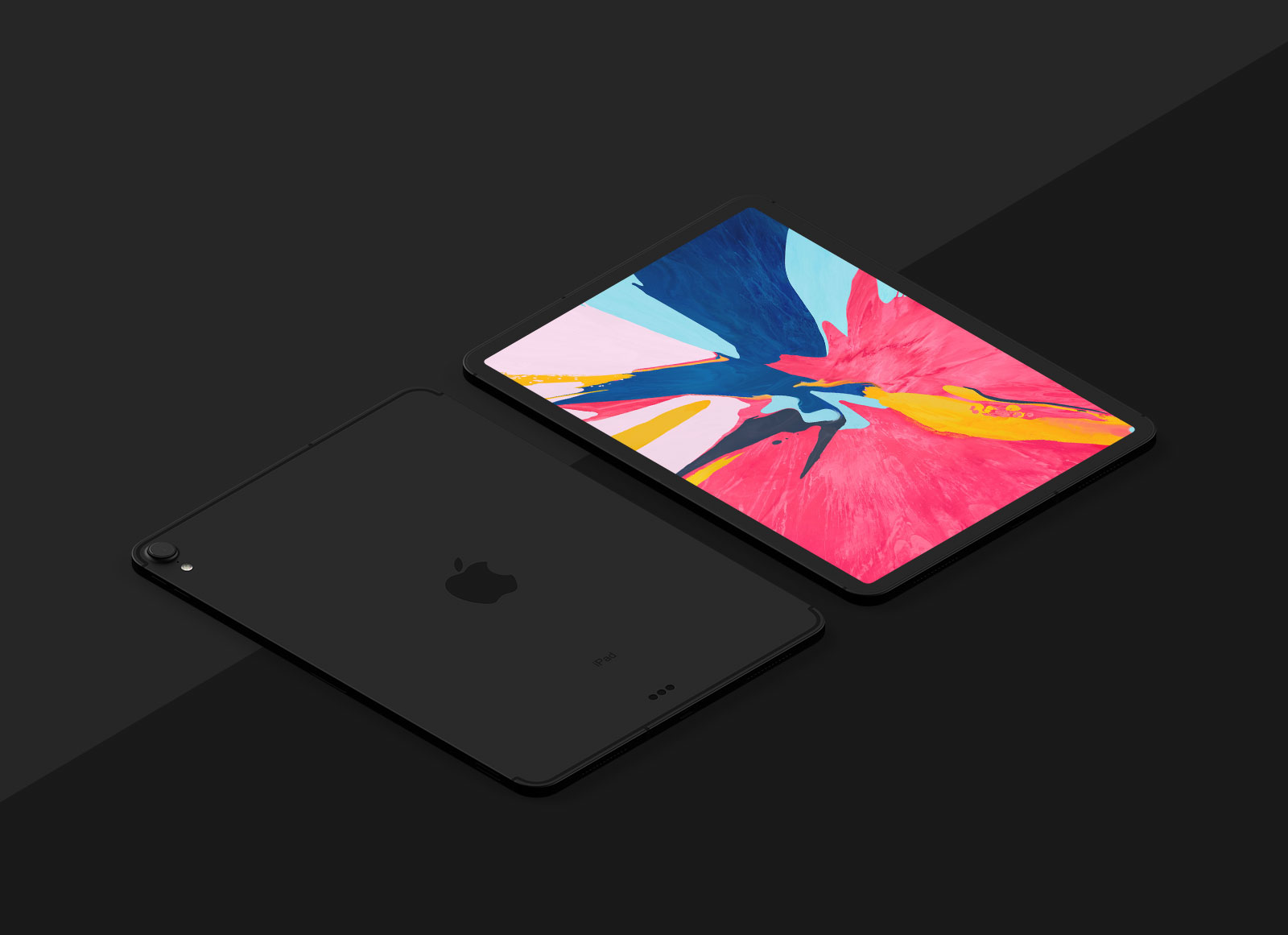Free-New-iPad-Pro-2018-Mockup-PSD-in-Perspective-Vew-5