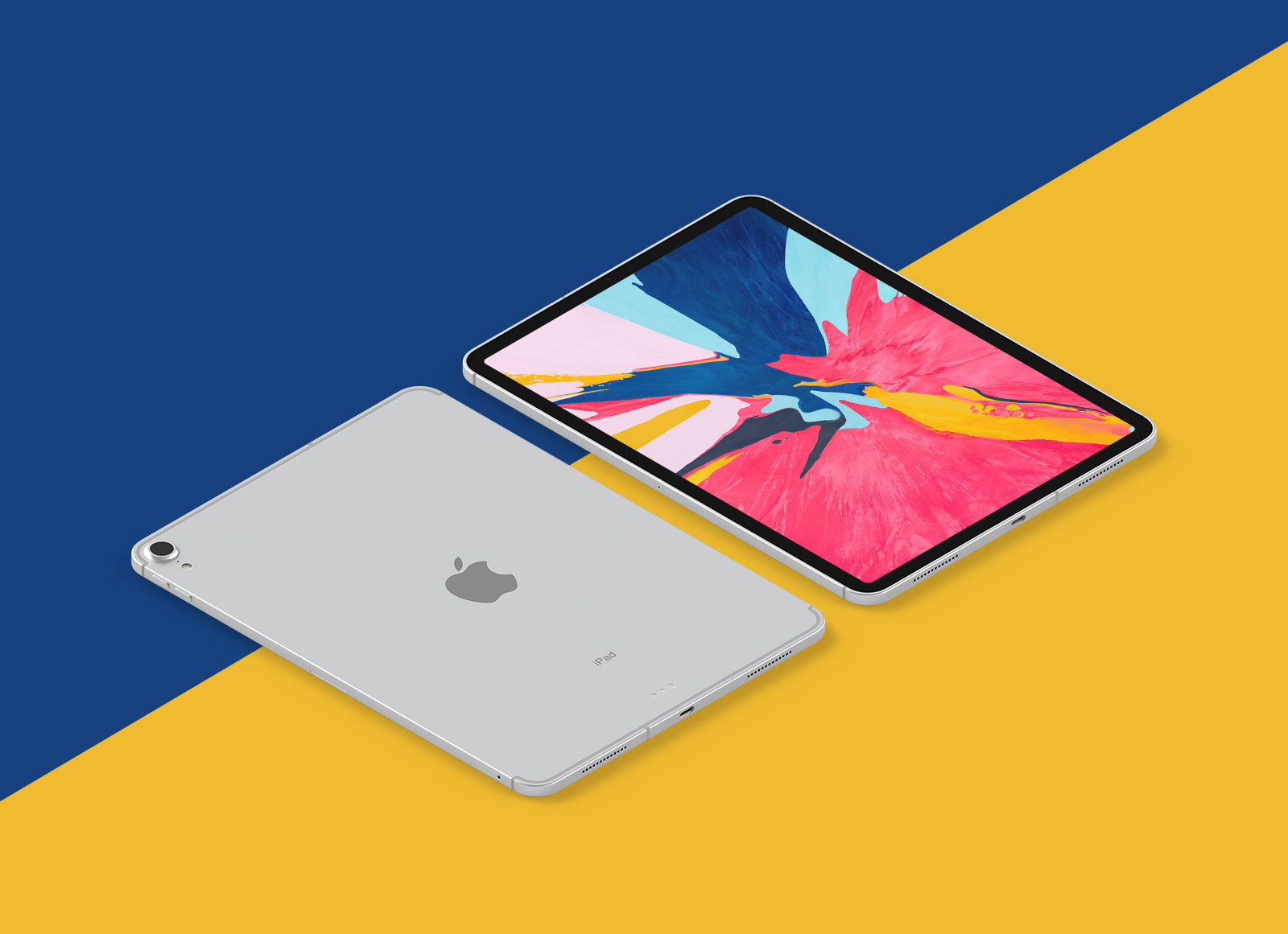 Free-New-iPad-Pro-2018-Mockup-PSD-in-Perspective-Vew
