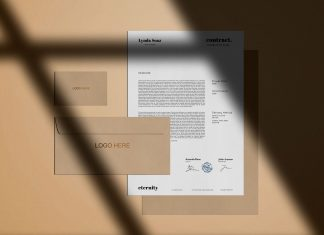 Free-Simple-Stationery-with-Shadow-Mockup-PSD-2