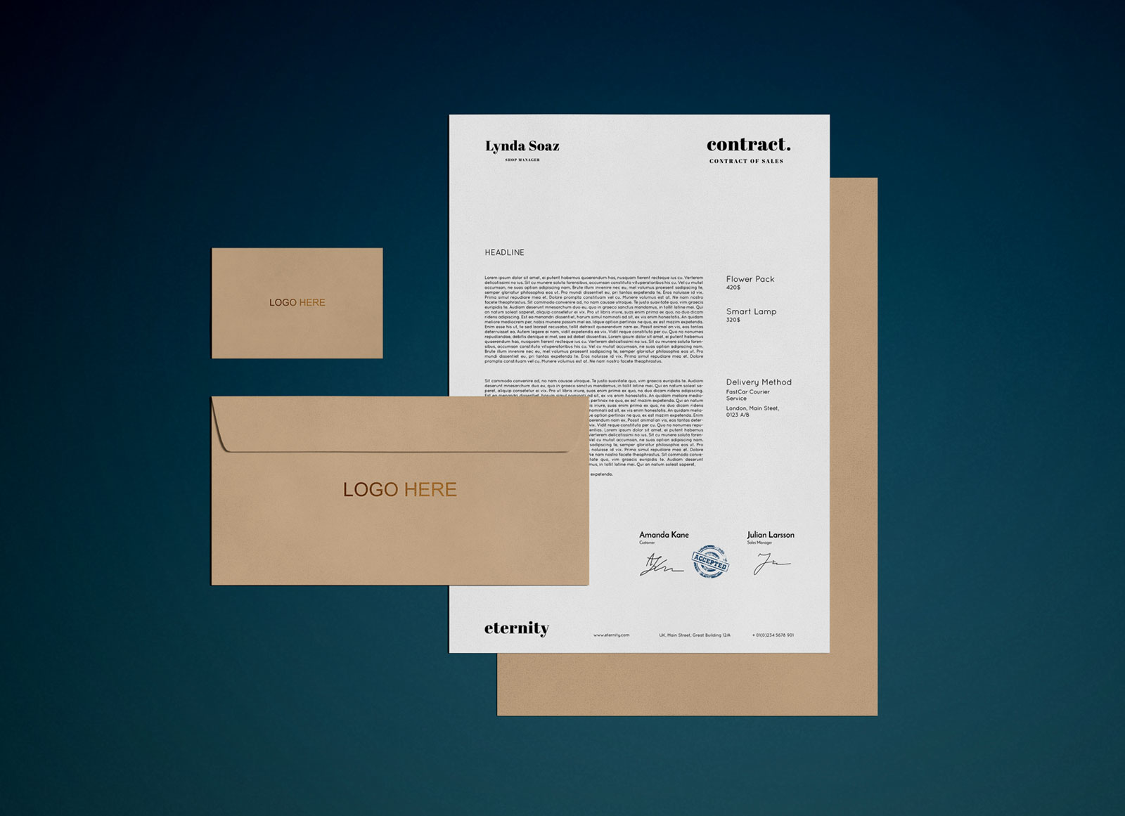 Free-Simple-Stationery-with-Shadow-Mockup-PSD