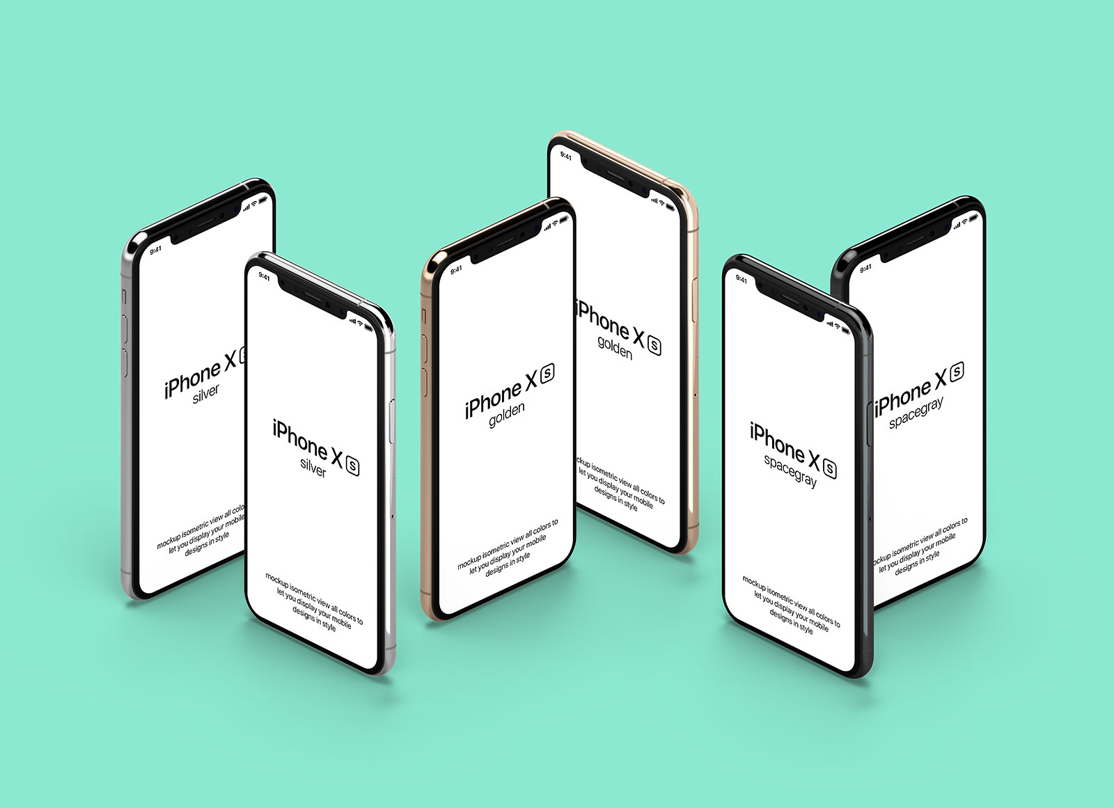 Free-Standing-iPhone-XS-Isometric-Mockup-PSD