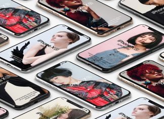 Free-iPhone-XS-Isometric-Mockup-PSD