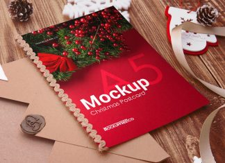 Free-Christmas-Post-Card-Mockup-PSD