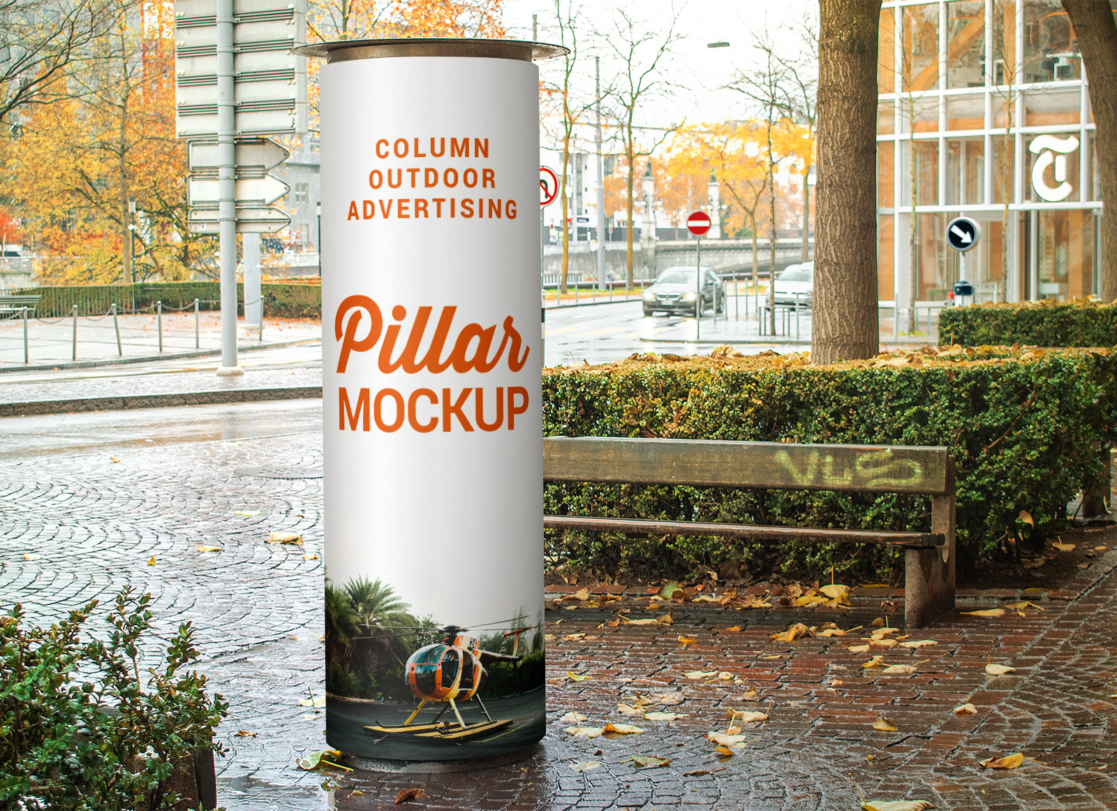 Free-Column_Outdoor-Advertising-Pillar-Mockup-PSD