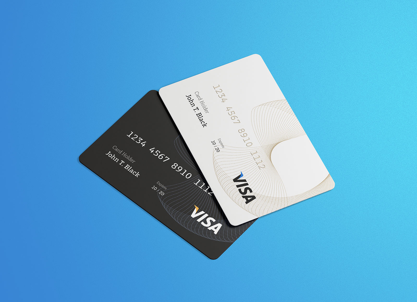 Free Credit Visa Card Mockup Psd Good Mockups