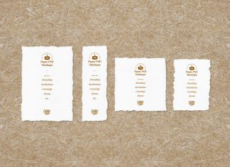 Free-Deckle-Edge-Paper-Mockup-PSD-Set