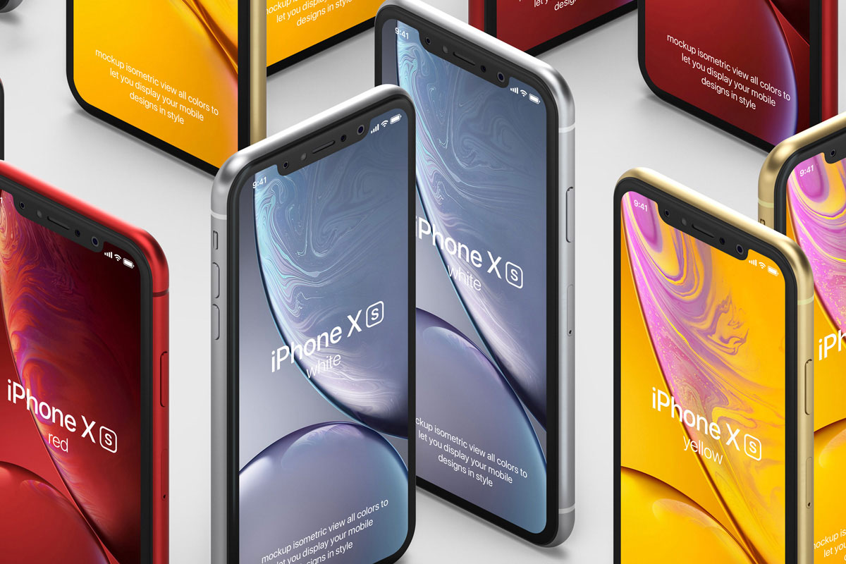 Free-Isometric-Standup-iPhone-XR-Mockup-PSD-2
