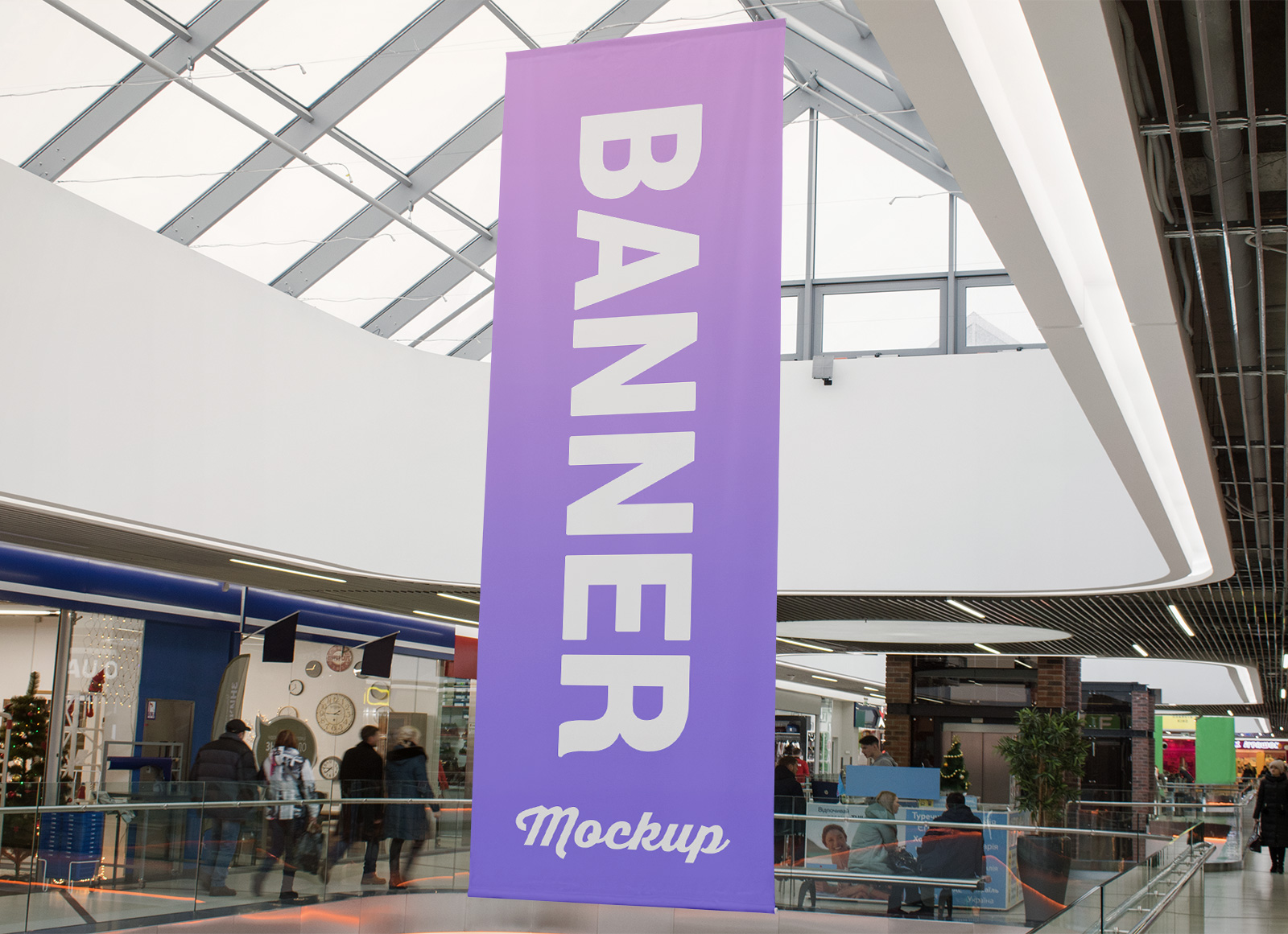 Free-Shopping-Center-Hanging-Banner-Mockup-PSD