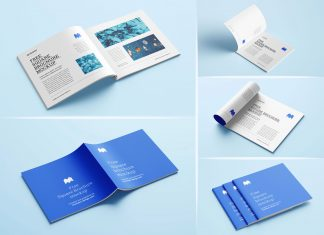 Free-Square-Brochure-Magazine-Mockup-PSD-Set