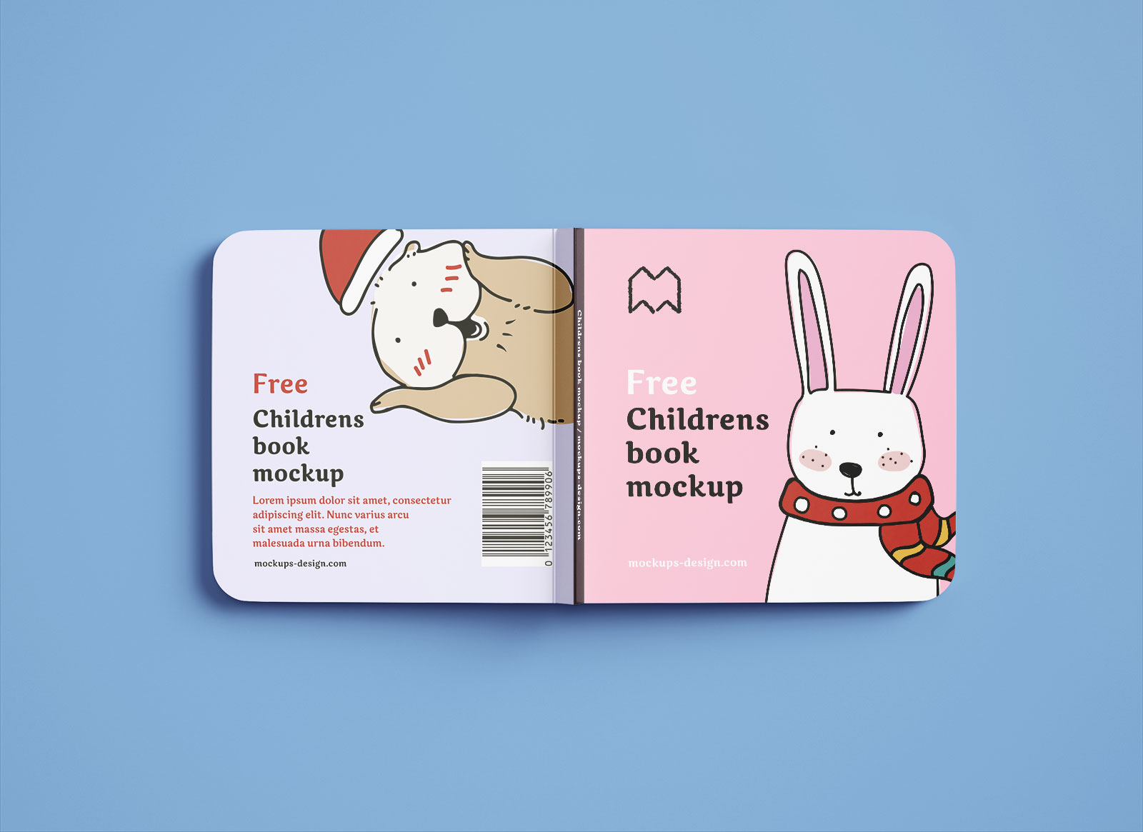 Free-Square-Children's-Book-Mockup-PSD-Set-2