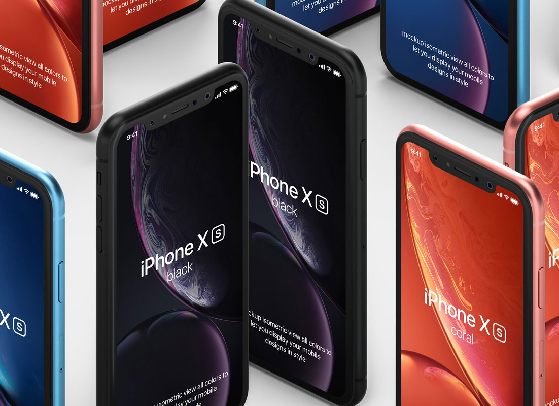 Free-Standup-Isometric-iPhone-XR-Mockup-PSD
