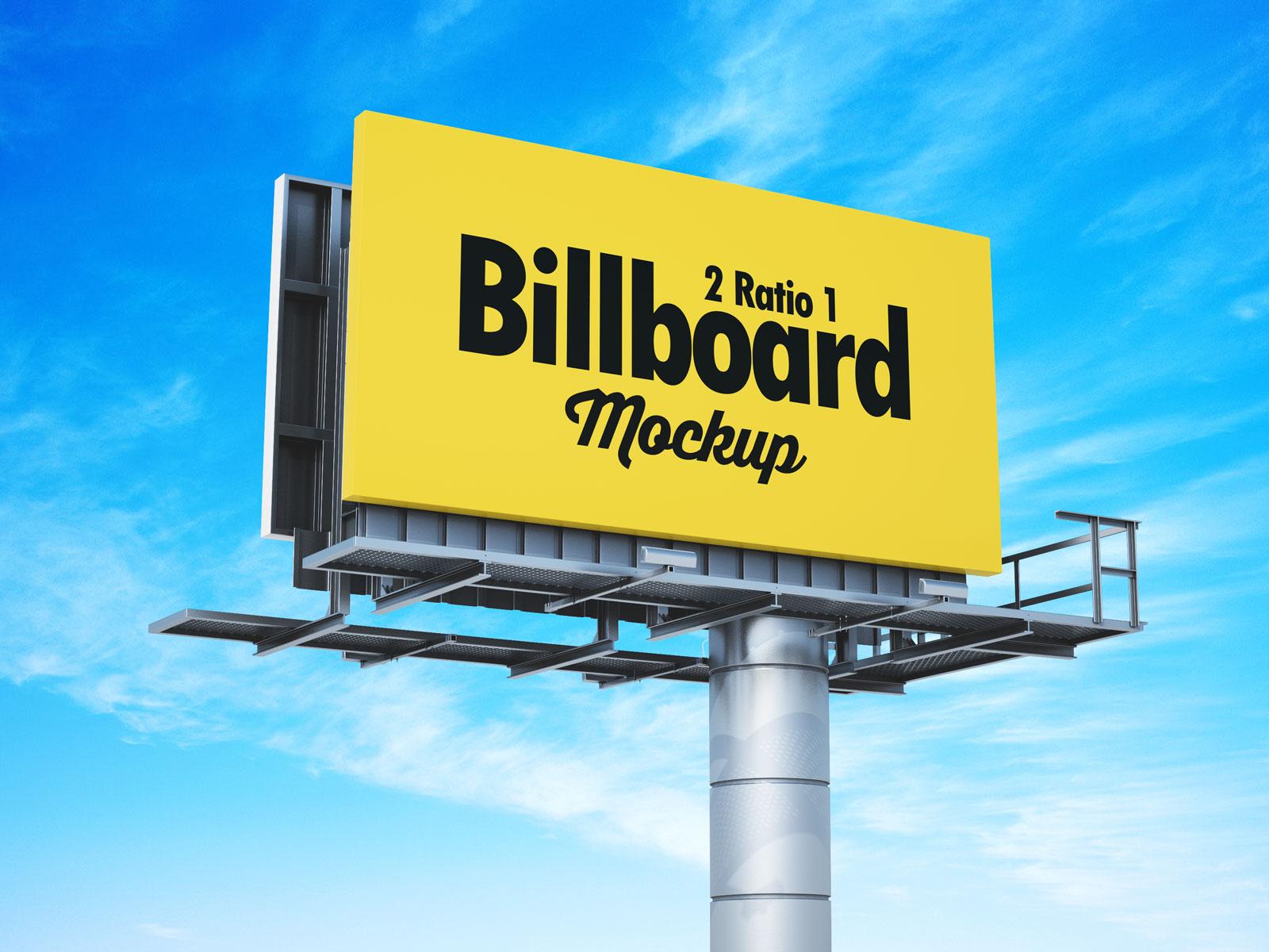 Free 21 Premium Billboard Mockup PSD Set (1)