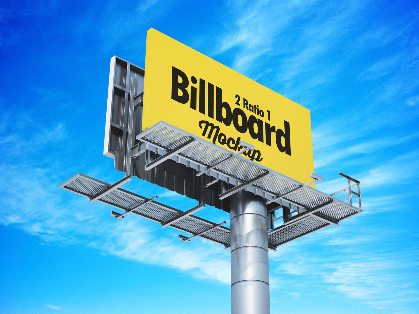Free 21 Premium Billboard Mockup PSD Set (2)