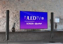 Free-55-Inches-4K-Smart-LED-TV-Screen-Mockup-PSD