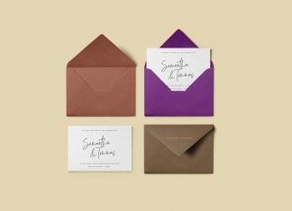 Free-Greeting-Card-with-Stylish-Envelope-Mockup-PSD