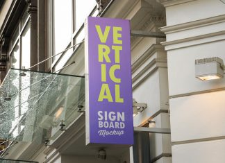 Free-Wall-Mounted-Vertical-Signboard-Mockup-PSD