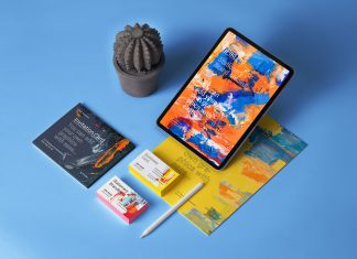 Free-iPad-Pro-2019-Stationery-Branding-Mockup-PSD