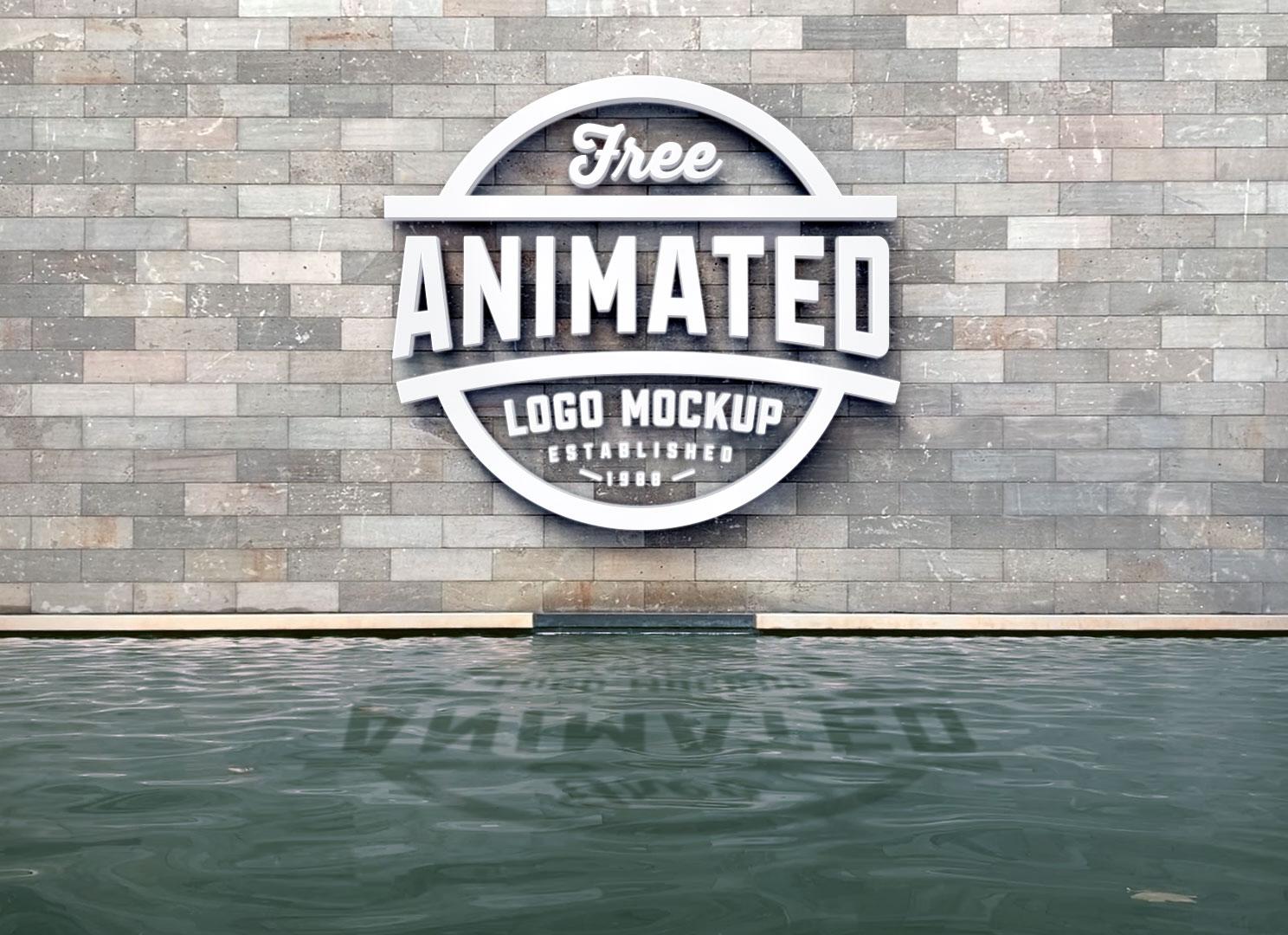 Free 3D Logo Animated Mockup PSD
