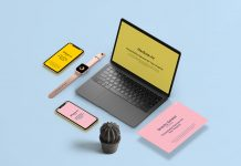 Free-Apple-Devices-Isometric-Scene-Mockup-PSD-File