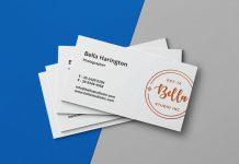 Free Simple Letterpress Business Card Mockup PSD