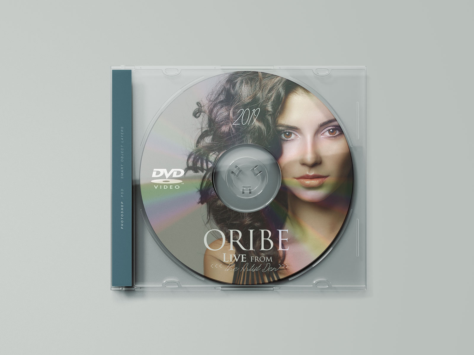 Free Transparent CD Cover & Disc Mockup PSD (1)