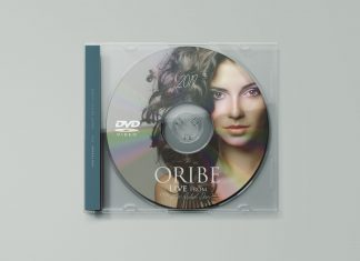 Free Transparent CD Cover & Disc Mockup PSD (2)