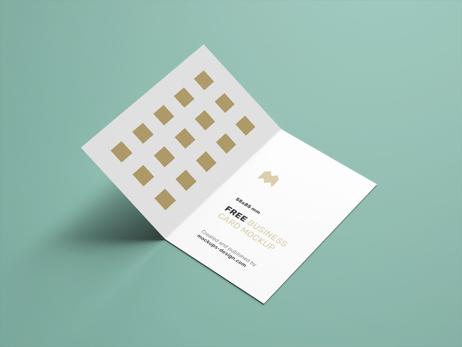 Free Vertical Folded Business Card Mockup PSD Set UK Size (1)