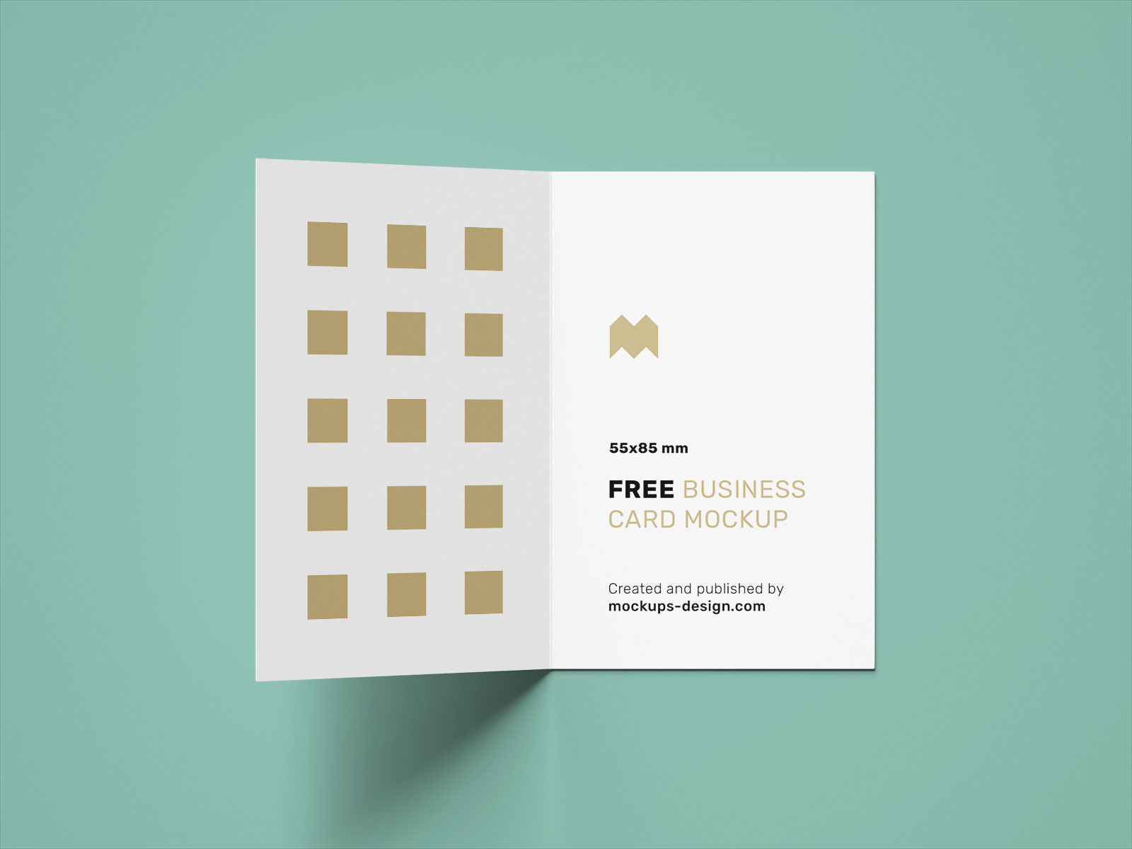 Free Vertical Folded Business Card Mockup PSD Set UK Size (2)