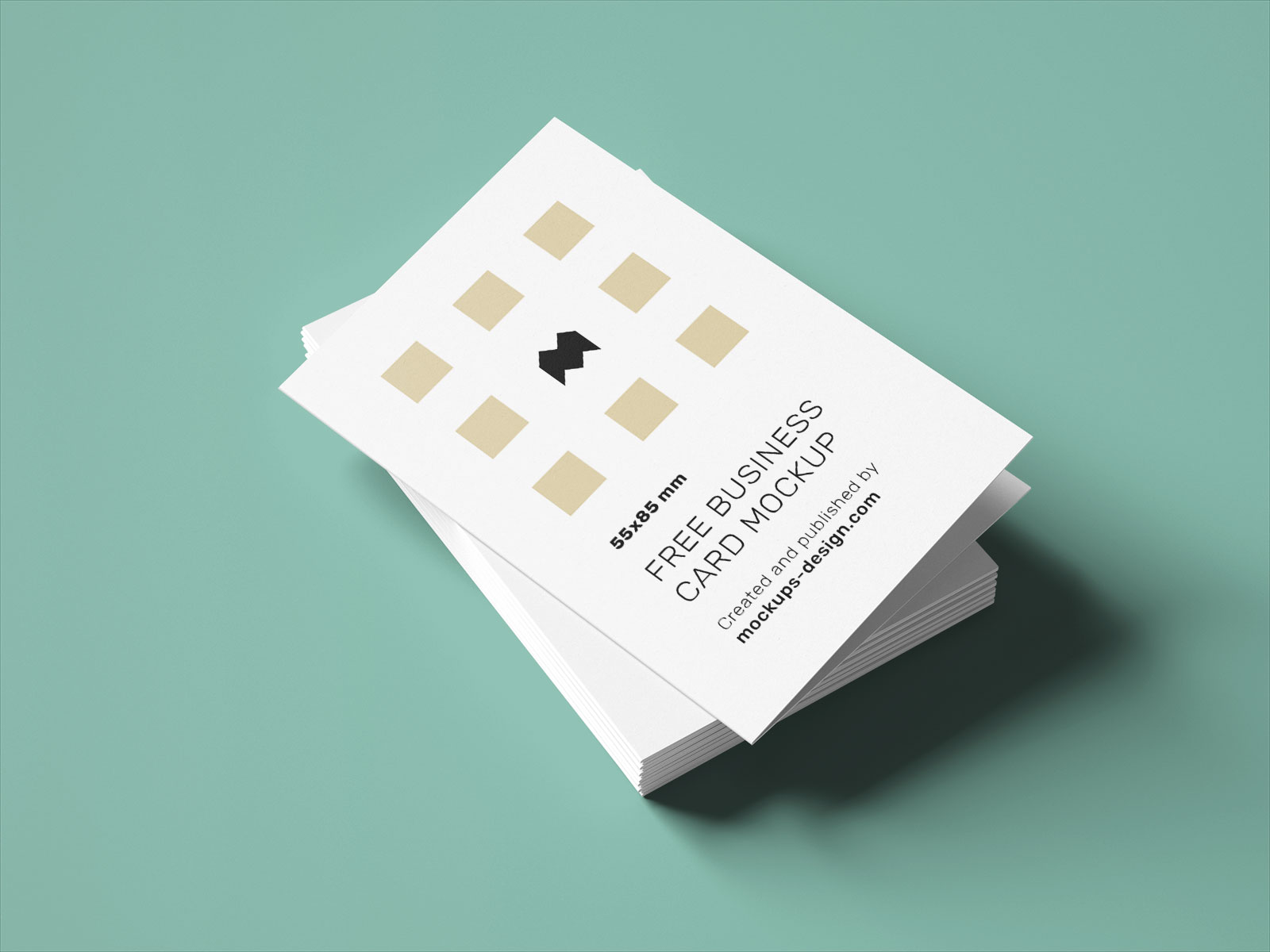 Free Vertical Folded Business Card Mockup PSD Set UK Size (4)