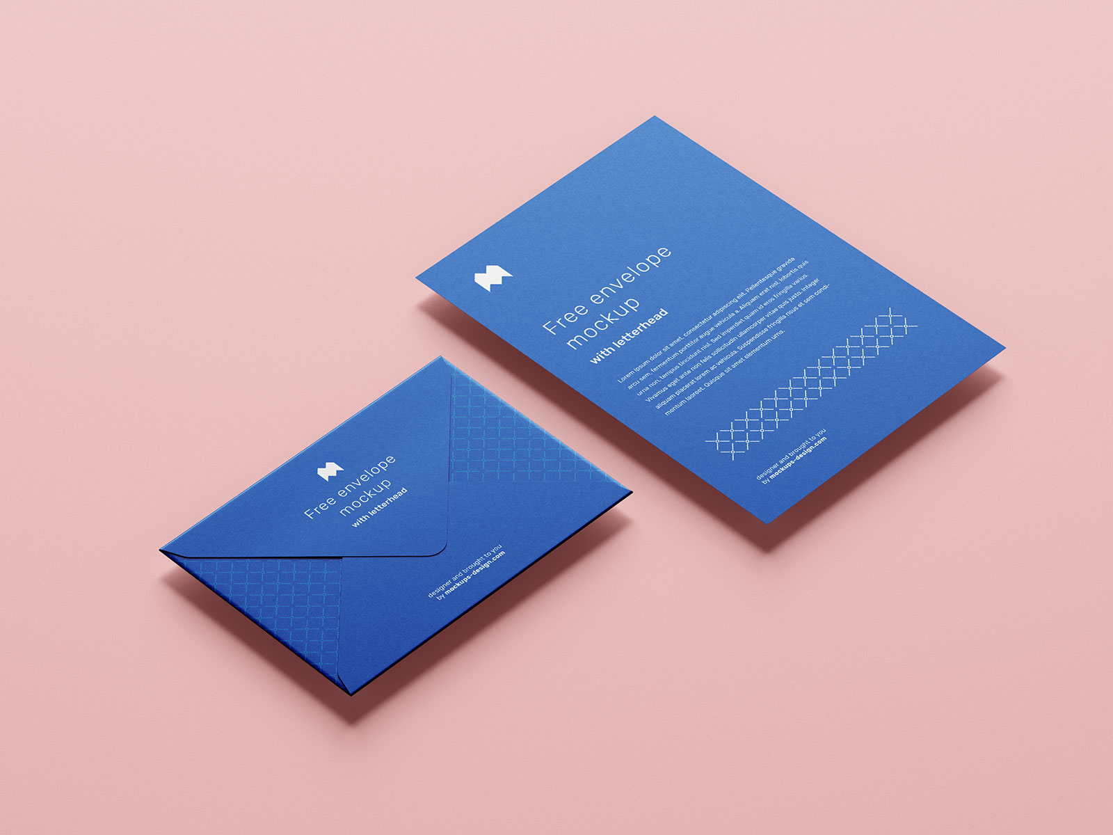 Free Envelope & Letterhead Mockup PSD