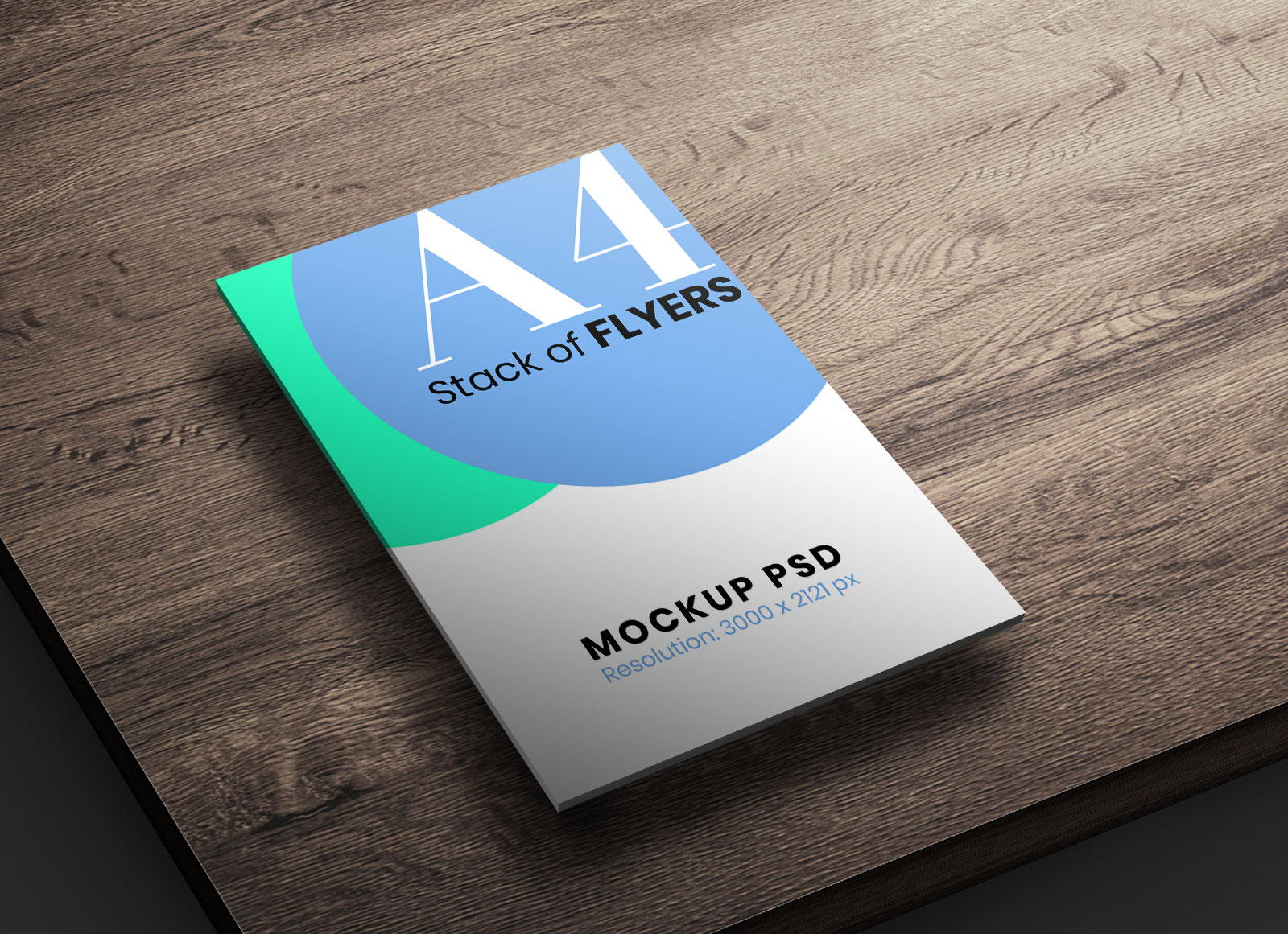 Free A4 Size Stack Of Flyers Mockup Psd Good Mockups