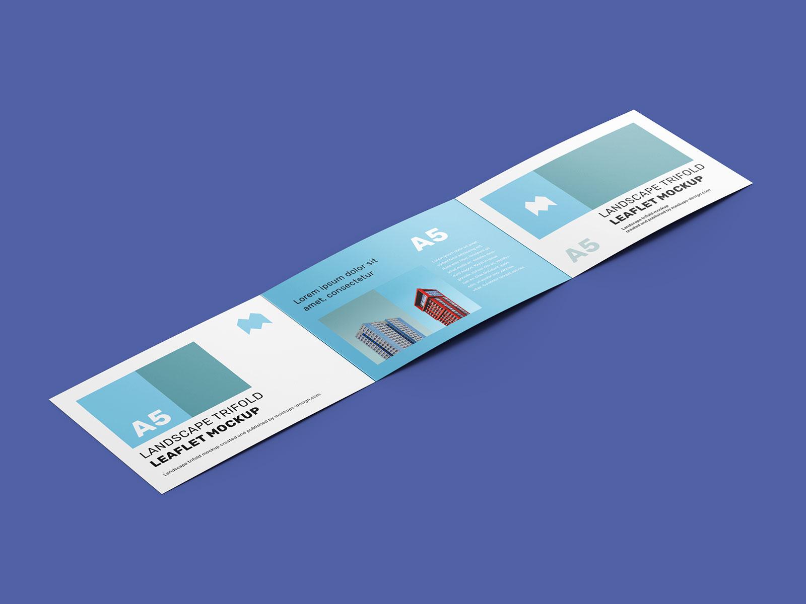 Free A5 Tri-Fold Brochure Mockup PSD (2)