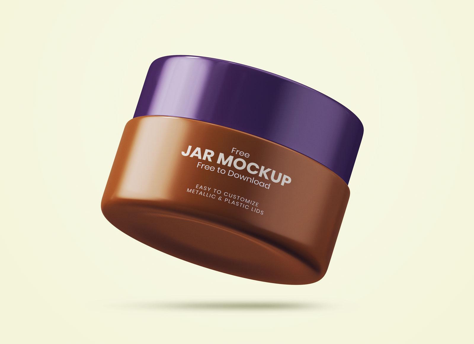 Free Cosmetic Cream Jar Mockup Psd