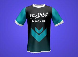 Free-Half-Sleeves-Tshirt-Mockup-PSD-Set