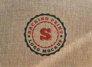 Free-Jute-Sack-Cloth-Fabric-Logo-Mockup-PSD