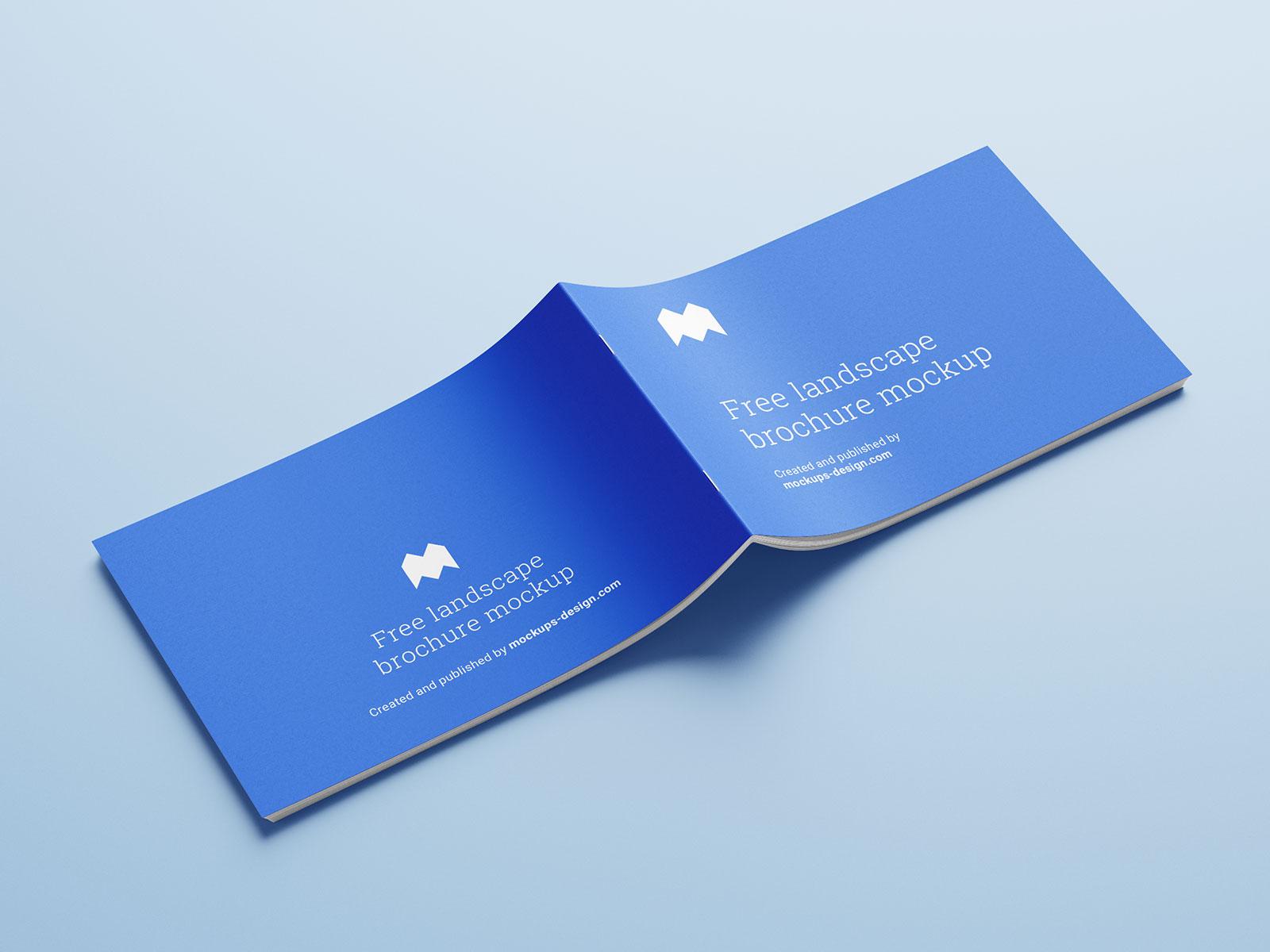 Free Landscape Brochure Catalogue Mockup PSD