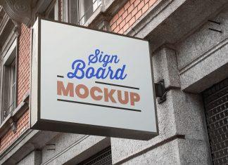 Free-Square-Wall-Mounted-Signage-Board-Mockup-PSD