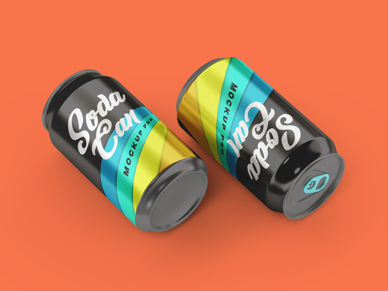 Free Aluminium Tin Soda Can Mockup PSD Set (1)