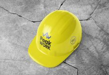Free Construction Safety Hard Helmet Hat Cap Mockup PSD (1)