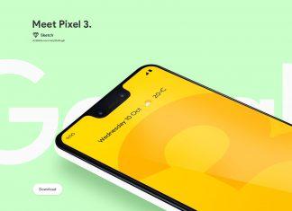 Free-Floating-Google-Pixel-3-Mockup
