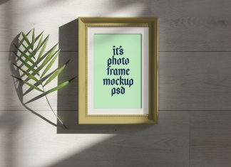 Free-Photo-Frame-Under-Natural-Sunlight-Mockup-PSD