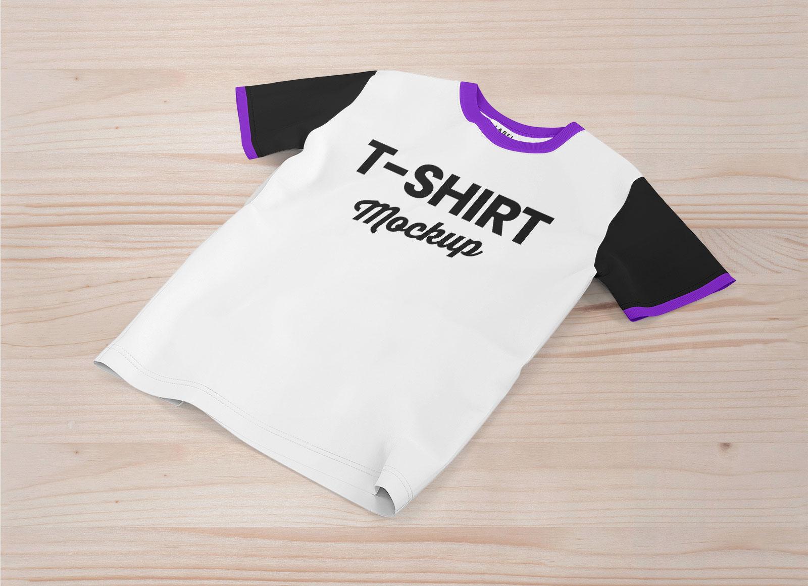 Free-Summer-Half-Sleeves-T-shirt-Mockup-PSD