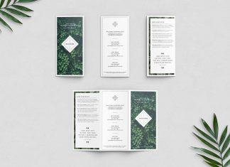 Free Tri-Fold Brochure Mockup Presentation PSD