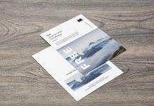 Free US Letter Paper Size Flyer Mockup PSD