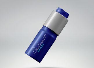 Free Deodorant Spray Tin Bottle Mockup PSD