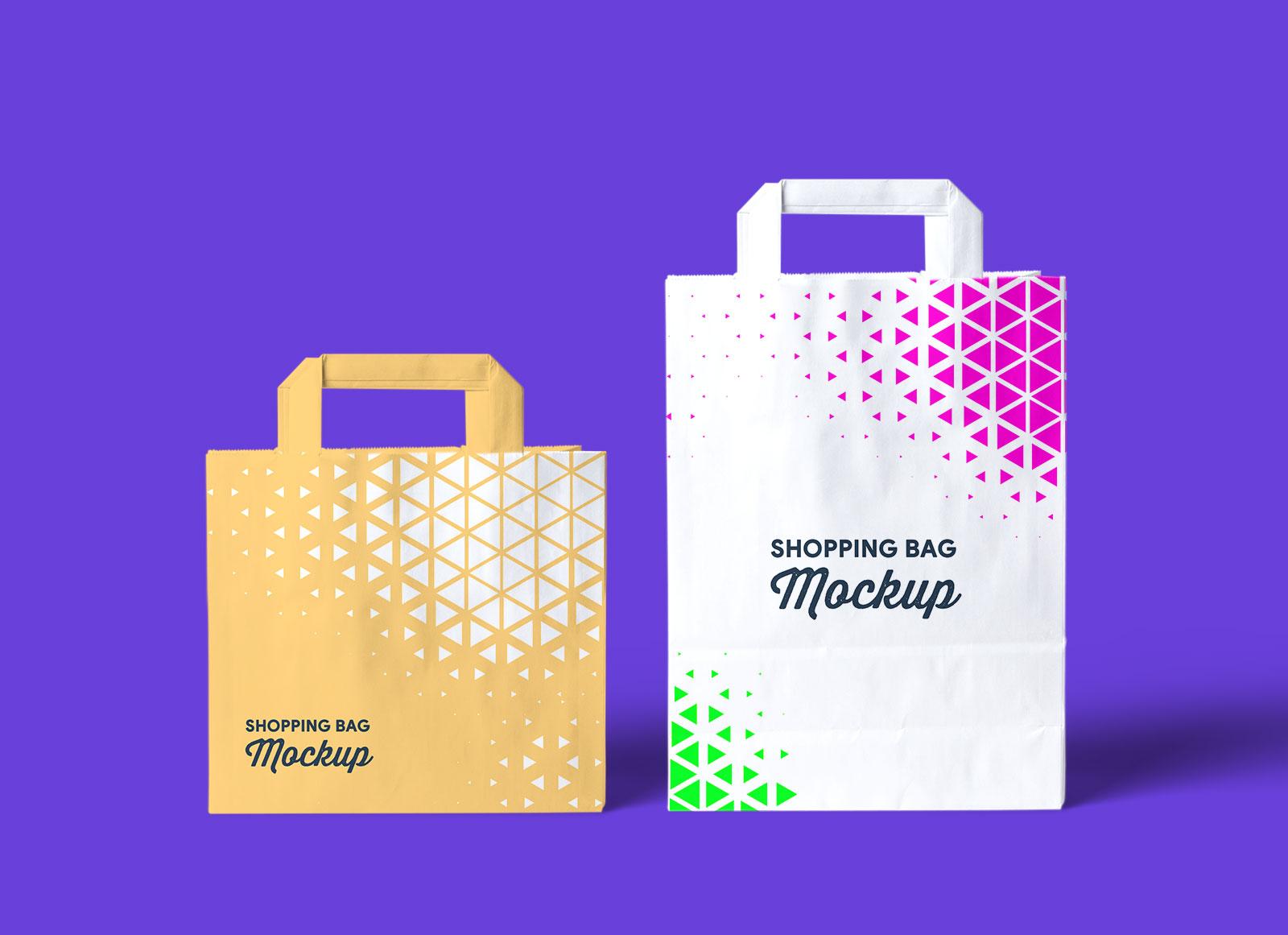 Free Fabric Reusable Grocery Shopping Bag Mockup PSD