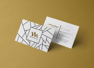 Free Front & Back Business Card PSD Mockup