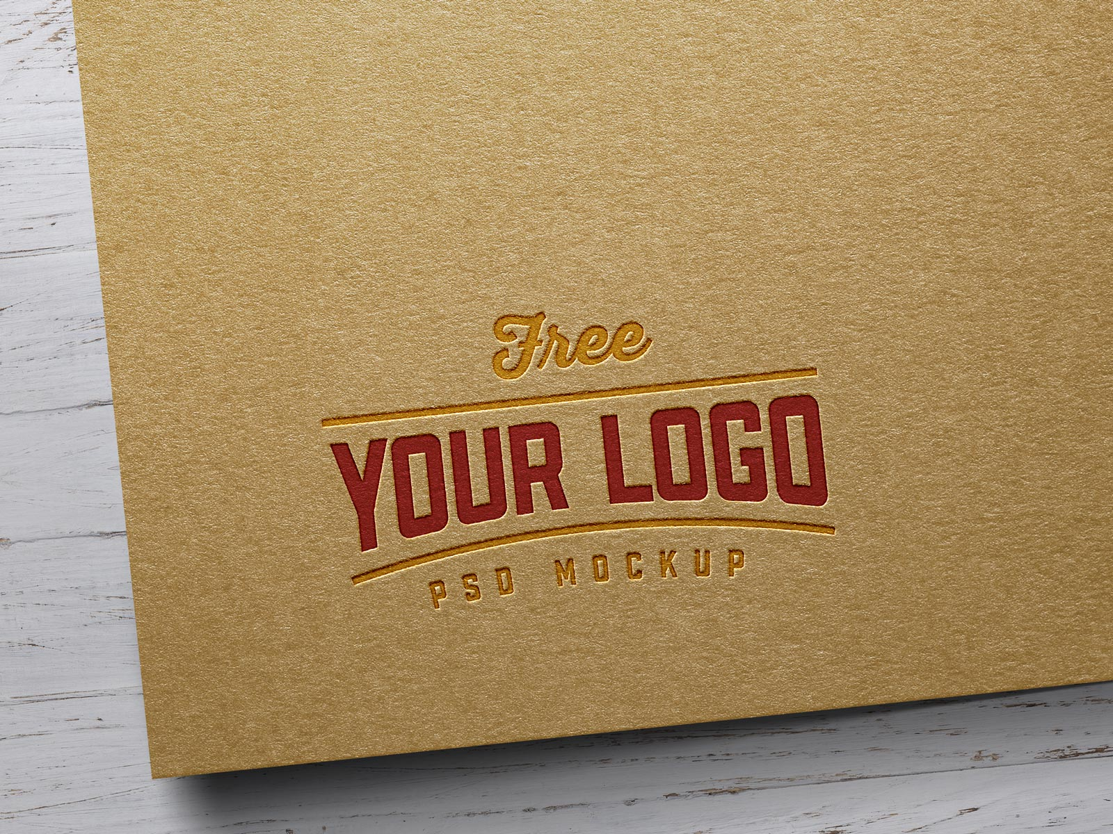 Free Kraft Paper Logo Mockup PSD