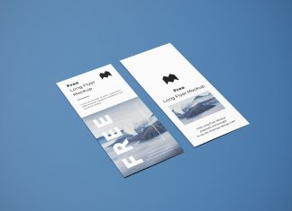 Free Long Flyer Mockup PSD Set