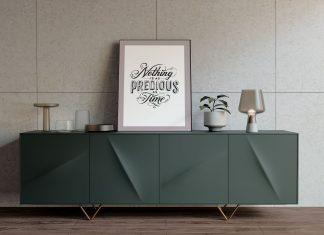Free-Photo-Frame-on-Modern-Table-Mockup-PSD